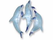 Dolphins Sterling Silver Enameled Pin by Zarah Co
