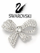 Crystal Bow Pin by Swarovski