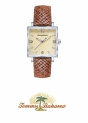 Men's Silver Palm Watch TB1000 by Tommy Bahama