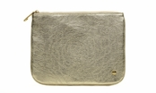 Bel Air Gold Medium Flat Pouch by Stephanie Johnson