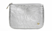 Bel Air Silver Medium Flat Pouch by Stephanie Johnson