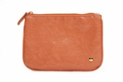 Main Street Orange Medium Flat Pouch by Stephanie Johnson