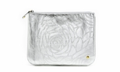 Bel Air Silver Large Flat Pouch by Stephanie Johnson
