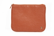 Main Street Orange Large Flat Pouch by Stephanie Johnson