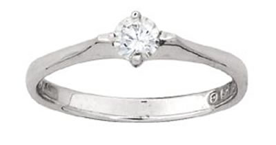 Solitaire CZ Ring by Kit Heath