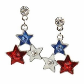 Patriotic Stars Drop Earrings