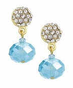 Spring Street Blue Glitzy Glass Drop Earrings