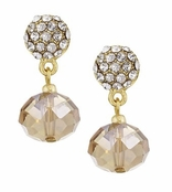 Spring Street Natural Glitzy Glass Drop Earrings