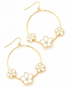 Flower Hoop Earrings by Spring Street