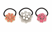 Flowers in Bloom Ponytail Holder by Spring Street