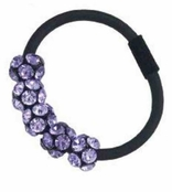 Gem Dandy 5 Crystal Ball Ponytail Holder by Spring Street
