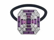 Great Gatsby Amethyst Crystal Ponytail Holder by Spring Street