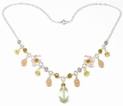 Gemstone & Glass Beaded Necklace by Indigo