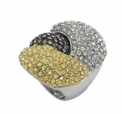 Gem Dandy Pave'd Tri-Tone Ring by Spring Street