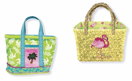 Tropical Beach Tote Notepad