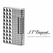 Ligne 2 Palladium Multi Diamond Head Lighter by S.T. Dupont