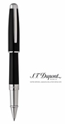 Olympio Black Chinese Lacquer and Palladium Convertable Roller Ball Pen by S.T. Dupont
