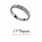 Diamond Head Sterling Silver Men's Band Ring by S.T. Dupont