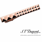 Pink Gold Diamond Head Tie Bar by S.T. Dupont