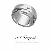 Sterling Silver Men's Feu Sarce Ring by S.T. Dupont