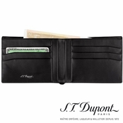 Ligne D Black Calfskin Leather Wallet by S.T. Dupont