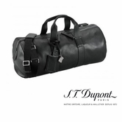 Nocturne Collection Black Leather Travel Bag by S.T. Dupont