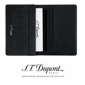 Nocturne Collection Black Leather Business Card Holder by S.T. Dupont
