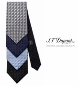 Jacquard Diamond Head Silk Necktie by S.T. Dupont