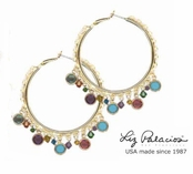 Colores Swarovski Crystal Multi Hoop Earrings by Liz Palacios