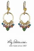 Colores Swarovski Crystal Multi Mini Circle Earrings by Liz Palacios