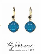Colores Swarovski Crystal Caribbean Blue Opal Cushion Drop Earrings by Liz Palacios