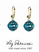Colores Swarovski Crystal Light Turquoise Cushion Drop Earrings by Liz Palacios