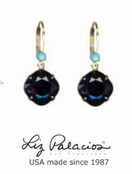 Colores Swarovski Crystal Jet Cushion Drop  Earrings by Liz Palacios