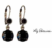 Swarovski Crystal Jet Drop Leverback Earrings by Liz Palacios