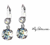 Swarovski Crystal Silver Moonlight Drop Leverback Earrings by Liz Palacios