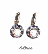 Swarovski Crystal AB Framed Rondell Leverback Earrings by Liz Palacios