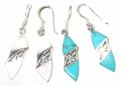 Gemstone Filigree Sterling Silver Earrings