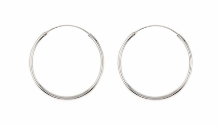Sterling Silver 1 3/4 Endless Hoops