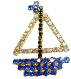 Crystal Sailboat Pin