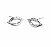 Kiss Kiss Silver Stud Earrings by Jules Smith