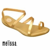 Gold Paradise Sandals by Melissa Plastic Dreams