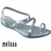 Silver Paradise Sandals by Melissa Plastic Dreams