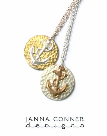 Anchor Large Charm Necklace by Janna Conner
