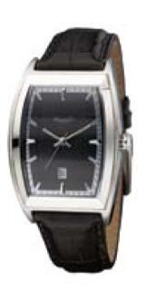 Men's Black Face Barrel Case Watch by Kenneth Cole
