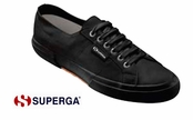 Superga Firenze Black Leather Sneakers for Men