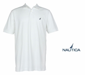 Bright White Anchor Solid Pique Knit Deck Shirt by Nautica