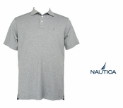 Ash Heather Short Sleeve Interlock Polo by Nautica