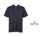 Navy Short Sleeve Interlock Polo Shirt by Nautica