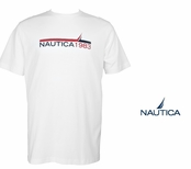 Bright White N1983 Chest Stripe Logo Tee by Nautica