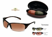 Loredo Bay Tortoise Sunglasses With Interchangeable Lenses by Tommy Bahama